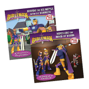 Bibleman Flipbook braving the big battle