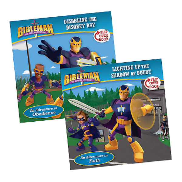 Bibleman Flipbook disabling the disobey ray