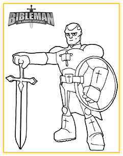 Bibleman coloring sheet demo 1