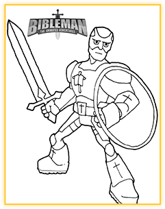 Bibleman coloring sheet demo 2