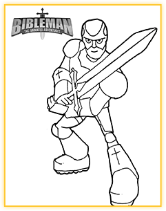 Bibleman coloring sheet demo 3