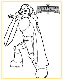 Bibleman Coloring Sheet Demo 4