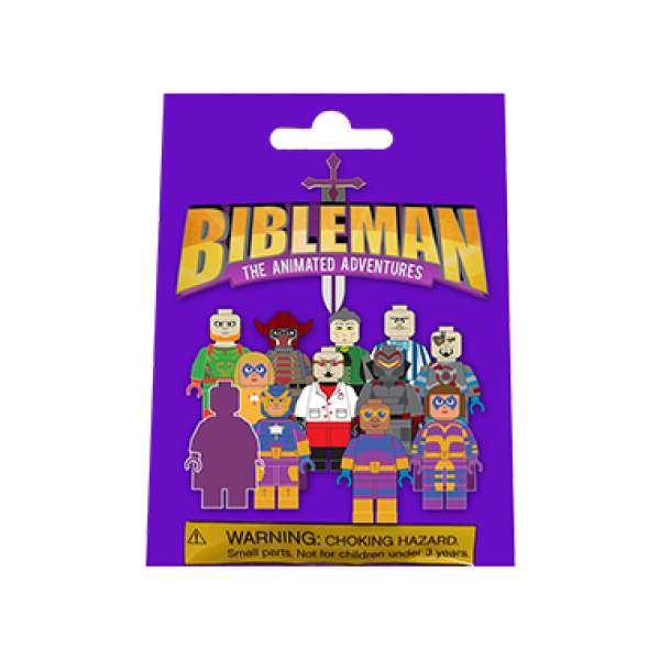 Bibleman minifigure bag